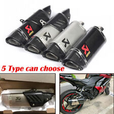 Exhaust Motorcycle Universal Muffler Pipe Carbon Fiber Stainless Steel
