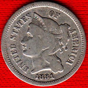 1881 3 Cent Nickel