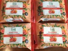 4x Lacura eco Facial Cleansing Wipes GRAPEFRUIT 25 Wipes x4 (100 wipes in total)
