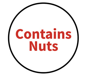 """""""Contains Nuts"""" Food Allergy Labels - Red - 19mm (117 per sheet)"""