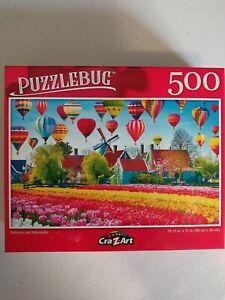 NEW!! BALLOONS AND WINDMILLS PUZZLEBUG 500 Pcs Jigsaw Puzzle 18.25x11 FREE SHIP