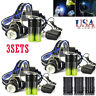 50000LM Tatical T6 LED Headlamp Zoom Torch HeadLight Lamp+18650 Battery+Charger