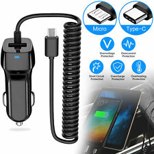 Fast Dual USB Car Charger Charge with Type-C/Micro USB Cable for Android Phone