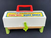 1969 Vintage 935 FISHER PRICE Tool Box Work Bench Play Set + Tools Inside