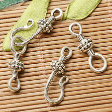 8sets dark silver color textured hook toggle clasp for jewerly making  EF2840