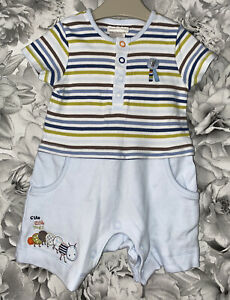 Boys Age 0-3 Months - Mamas & Papas All In One - Outfit/Romper