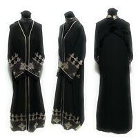 Femme Neda Fermé Avant Robe Saoudien Long Abaya Farasha Jilbab Burka Caftan