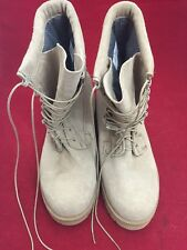 VIBRAM Tan Suede Army Combat Boots 10R Good Condition See Description