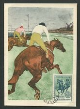 RUSSIA MK 1955 REITTURNIER REITER PFERDE PFERD HORSE MAXIMUM CARD MC CM d7752