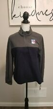 The New York Rangers Youth XL or Womens S Blue Gray Fleece Pullover Official NHL