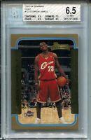2003 Bowman GOLD Basketball 123 Lebron James Rookie Card Graded BGS Ex Mint+ 6.5