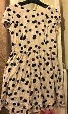 Topshop Cream Polka Dot Dress Size 14