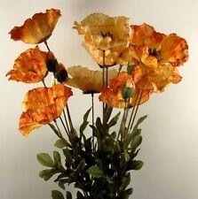 Fleur ARTIFICIELLE-Pavot de Spray Ambre