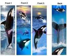 3 Lot-ORCA KILLER WHALE BOOKMARK Book Mark Card ART Ocean Sea Life baby-Dolphin