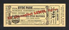RARE 1941 ED STRANGLER LEWIS full wrestling ticket wrestler  HYDE PARK St Louis