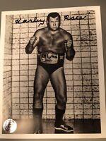 Authentic Pro Wrestling Crate signed 8x NWA Champion Harley Race 8x10 photo WWF