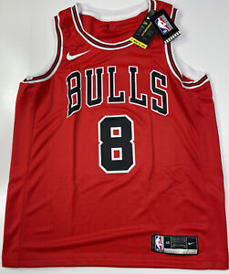 100% Authentic Zach LaVine Bulls Swingman Jersey Red Size Large 48 Men's