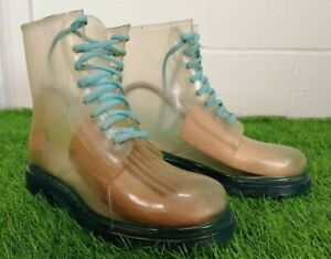 Transparent See Through Plastic/ Rubber Ankle Boots UK Size 5 EU 39