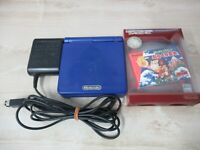 L248 Nintendo Gameboy Advance SP console Azurite Blue & game Adapter Japan GBA