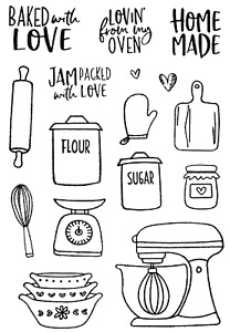 Baked with Love - Stamp and Die Set - AUSTRALIAN STOCK