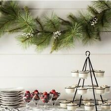 SOLD OUT~HEARTH & HAND with Magnolia Artificial Pine Garland White Berries~NWT