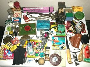 Vintage & Antique Junk Drawer Lot / Tools Tobacco Tins Knives Collectibles