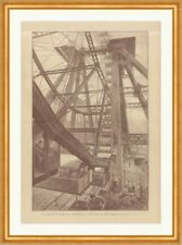 The Big Wheel with view cars to West Kensington in London Wood engraving c 2511