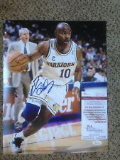 Golden State Warriors Tim Hardaway Signed 11X14 PHOTO JSA/COA