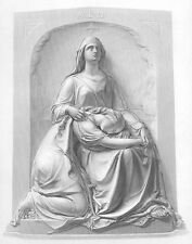 RELIGION HOLDS TIRED JUSTICE TWIN SISTERS ~ 1856 Art Print Engraving Lawyer Gift