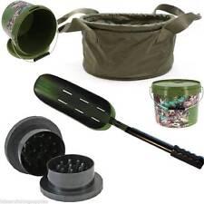 Groundbait Carp Fishing Bait Mix Bowl Boilie Grinder + Spoon + Handle 10L Bucket