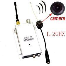 Mini Wireless Spy Nanny Micro Camera Cam Hidden Pinhole System NEW+ Receiver