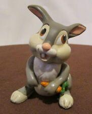 """Vintage Disney BAMBI THUMPER eating Carrot 2.5"""" Plastic Figurine"""
