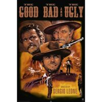"""THE GOOD, THE BAD, THE UGLY MOVIE POSTER - CLINT EASTWOOD - 91 x 61 cm 36"""" x 24"""""""