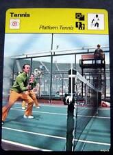 1977-1979 Sportscaster Card Tennis Platform Tennis 16-02
