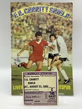 More details for rare liverpool v tottenham hotspur 1982 charity shield programme + ticket