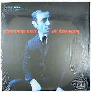 CHARLES AZNAVOUR The Very Best Of Aznavour LP 1966 CHANSON NM- NM-