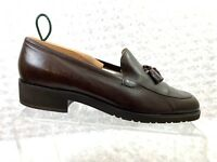Enzo Angiolini Size 8.5M Women's Mendoza Soft Leather Brown Tassle Loafer*