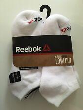 Reebok Men's 6 Pack Low Cut Performance Training Socks White Shoe Size 6-12.5