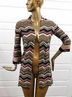 M Missoni Italy Zig Zag Multi Knit Cardigan Sweater sz 6