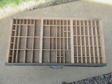 Letterpress Thompson California Job Case Type Case Shadow Box M59