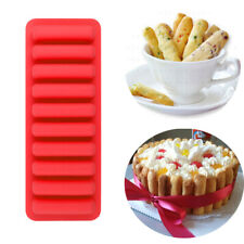Silicone 10 cell Chocolate Barette / Finger Stick Water Bottle Ice Cube Mould UK