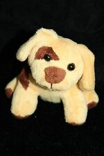 "Phoenix Custom Promotions Tan Brown Patches DOG  Plush SMALL 4"" Soft Toy Stuffed"