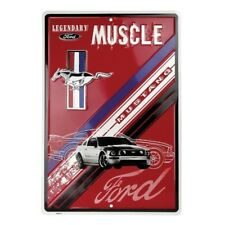 Legendary Muscle Metal Ford Mustang Metal Sign - Cool Embossed Aluminum!
