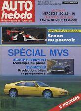 AUTO HEBDO n°640 31/08/1988 Spécial MVS VENTURI FACEL II