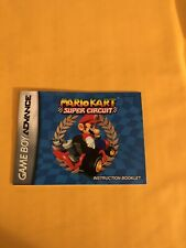 "Gameboy Advance ""Mario Kart Super Circuit"" Instruction Booklet"