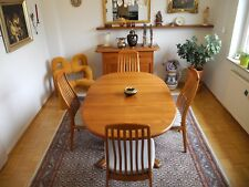Esszimmer Tisch mit 6 Stühlen, TEAK, dänisch, danish, 80er, Massivholz