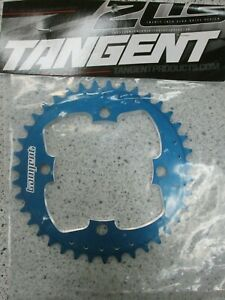 Tangent Products 4-Bolt 104mm 39T Chainring (blue) BMX/Single Spd Chainring