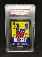1985 O-Pee-Chee OPC Hockey Unopened Wax Pack Graded PSA 9 Mint Mario Lemieux RC