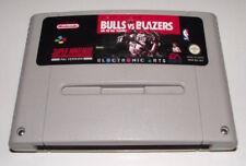 Bulls Vs Blazers and the NBA Playoffs Super Nintendo SNES PAL