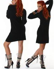SeXy Miss Damen Feinstrick Mini Kleid Rolli Rollkragen schwarz 34/36/38 NEU TOP